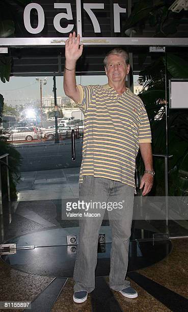 Musician Brian Wilson formerly of the Beach Boys talks to the media at a press conference at the Capitol Records building on May 19 2008 in Los...