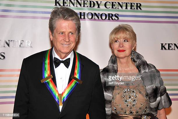 Musician Brian Wilson honoree and wife Melinda arriving at The 30th Kennedy Center Honors on December 2 in Washington DC The 2007 honorees are...