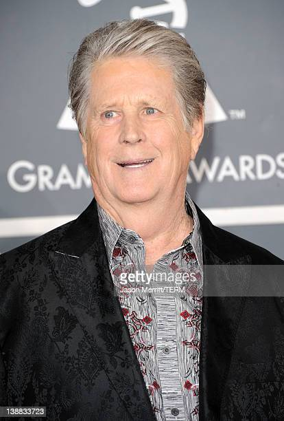 Musician Brian Wilson of the Beach Boys arrives at the 54th Annual GRAMMY Awards held at Staples Center on February 12, 2012 in Los Angeles,...