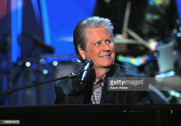 Musician Brian Wilson of The Beach Boys performs onstage at the 54th Annual GRAMMY Awards held at Staples Center on February 12 2012 in Los Angeles...
