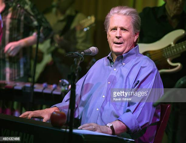 Musician Brian Wilson performs at Roadside Attraction's Love and Mercy DVD release and music celebration with Brian Wilson at the Vibrato Jazz Club...