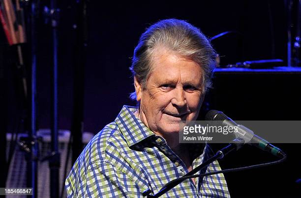 Musician Brian Wilson performs at the Greek Theatre on October 20, 2013 in Los Angeles, California.