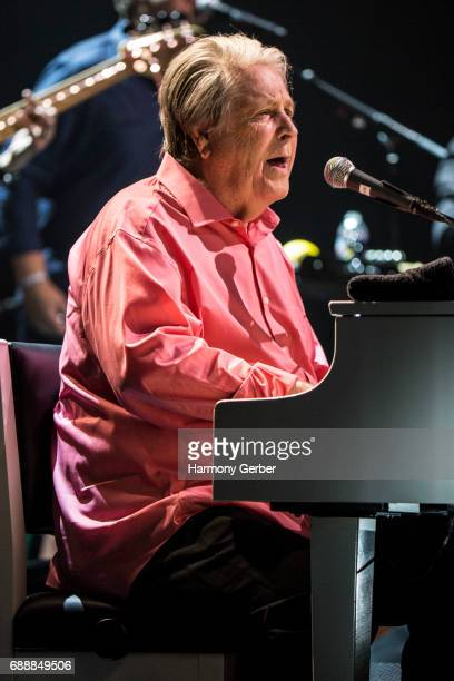 Musician Brian Wilson performs at the Pantages Theatre on May 26 2017 in Hollywood California
