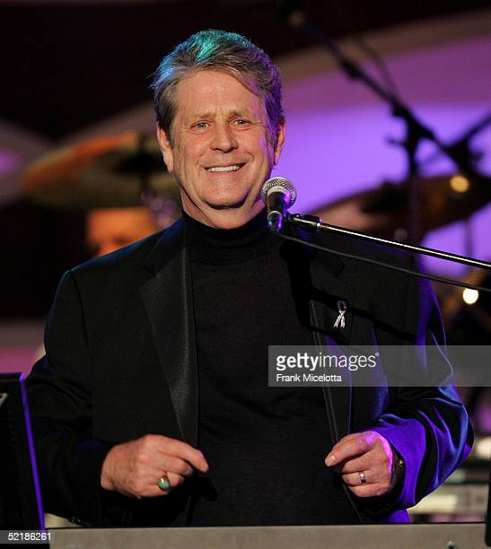Musician Brian Wilson performs onstage at the MusiCares 2005 Person of the Year Tribute to Brian Wilson at the Palladium on February 11 2005 in...