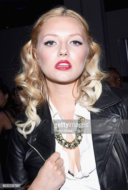 Musician Brielle attends the Irina Vitjaz fashion show at the New York Fashion Week The Shows September 2016 at The Gallery Skylight at Clarkson Sq...