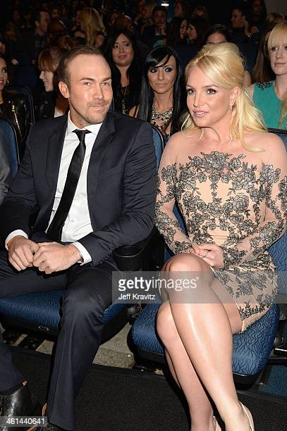 Musician Britney Spears and David Lucado attend The 40th Annual People's Choice Awards at Nokia Theatre LA Live on January 8 2014 in Los Angeles...
