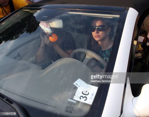 Musician Britney Spears arrives for a child custody hearing at the Los Angeles Superior Court on October 26 2007 in Los Angeles California