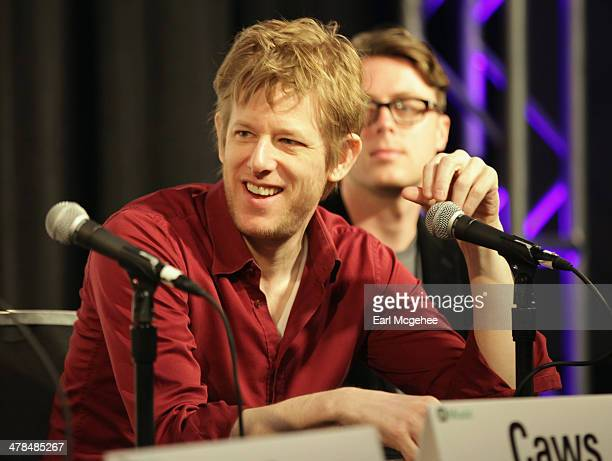 Musician Britt Daniel speaks onstage at Warehouse Songs and Stories during the 2014 SXSW Music Film Interactive at Austin Convention Center on March...