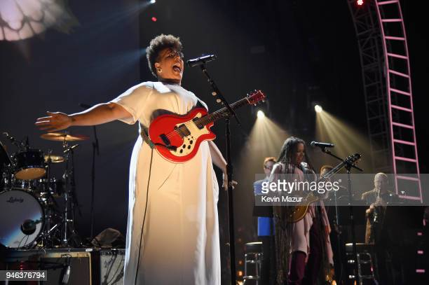 Musician Brittany Howard performs during the 33rd Annual Rock Roll Hall of Fame Induction Ceremony at Public Auditorium on April 14 2018 in Cleveland...