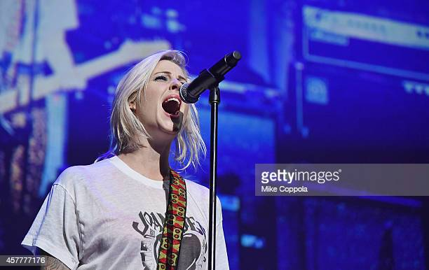 Musician Brody Dalle performs at The 6th Annual Little Kids Rock Benefit presented by Guitar Center at the Hammerstein Ballroom on October 23 2014 in...