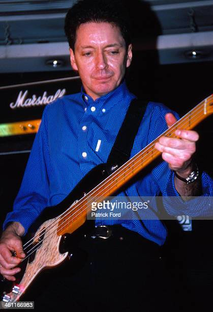 Musician Bruce Foxton with the band Stiff Little Fingers on stage 1999