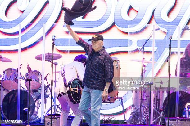 Musician Bruce Johnston of The Beach Boys performs on stage at PETCO Park on May 29, 2021 in San Diego, California.