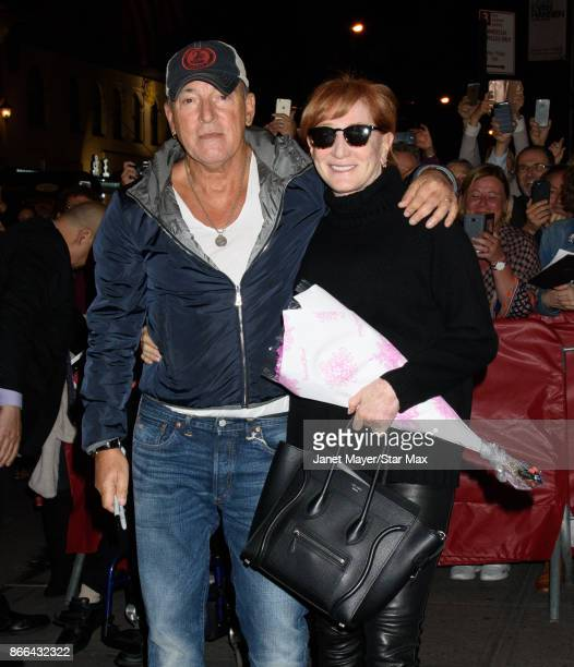 Musician Bruce Springsteen and Patti Scialfa are seen on October 25 2017 in New York City