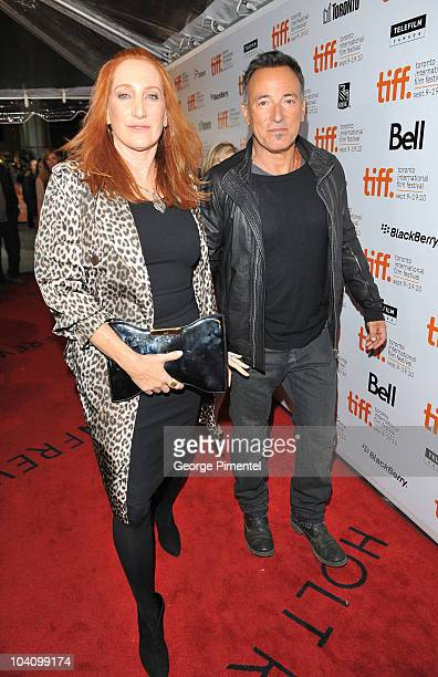 Musician Bruce Springsteen and wife Patti Scialfa attend The Promise The Making Of Darkness On The Edge Of Town Premiere during the 35th Toronto Film...