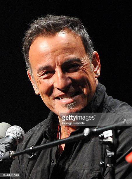 Musician Bruce Springsteen attends Mavericks Sessionwith Bruce Springsteen and Ed Nortonduring the 35th Toronto Film Festival at TIFF Bell Lightbox...