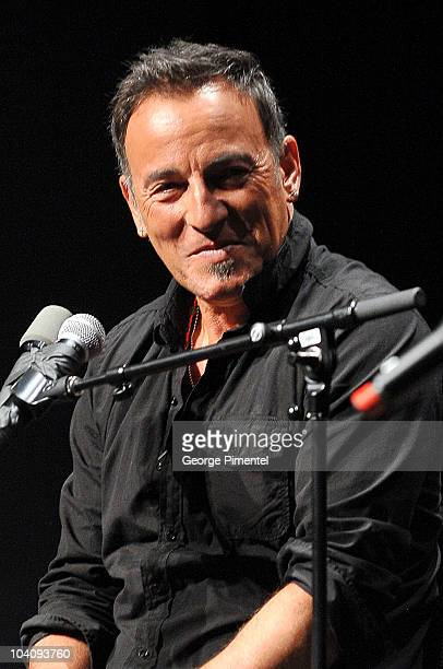 Musician Bruce Springsteen attends Mavericks Session with Bruce Springsteen and Ed Norton during the 35th Toronto Film Festival at TIFF Bell Lightbox...