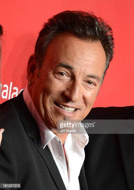 Musician Bruce Springsteen attends the 2013 MusiCares Person Of The Year Honoring Bruce Springsteen at Los Angeles Convention Center on February 8...