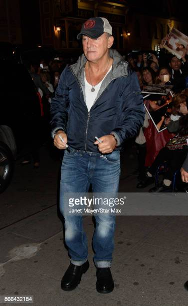 Musician Bruce Springsteen is seen on October 25 2017 in New York City