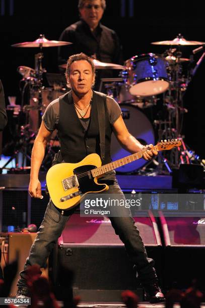 Musician Bruce Springsteen performs live at the HP Pavilion on April 1, 2009 in San Jose, California.