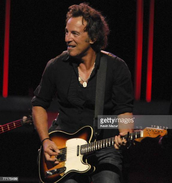 Musician Bruce Springsteen performs with The E Street Band at the Hartford Civic Center Coliseum at the Bruce Springsteen and The E Street Band Magic...