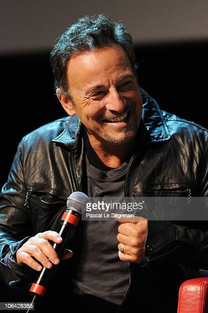 Musician Bruce Springsteen speaks on stage at The Promise The Making of Darkness on the Edge of Town premiere during the 5th International Rome Film...