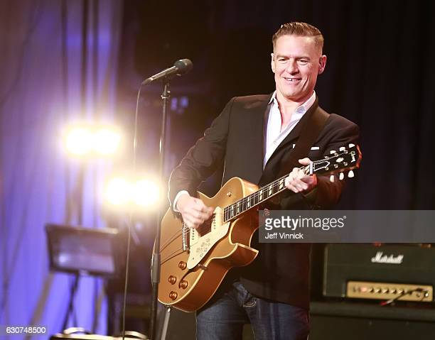 Musician Bryan Adams performs during the NHL Centennial Classic New Year's Eve Celebration at Muzik Event Center on December 31, 2016 in Toronto,...