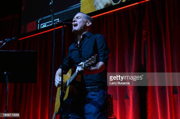 Musician Bryan Adams performs onstage at the TJ Martell Foundation's 38th Annual Honors Gala at Cipriani 42nd Street on October 22 2013 in New York...