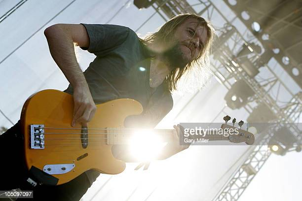 Musician Bryan Richie performs with The Sword during day 1 of the Austin City Limits Music Festival at Zilker Park on October 8, 2010 in Austin,...