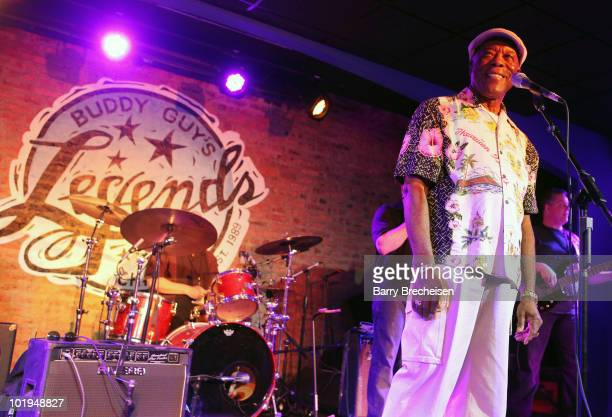 Musician Buddy Guy makes a special appearance at the Chicago Bluesfest Kickoff Jam at Buddy Guy's Legends on June 9 2010 in Chicago Illinois