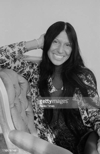 Musician Buffy SainteMarie interviewed for her appearance on the BBC television series 'The Old Grey Whistle Test' October 1971