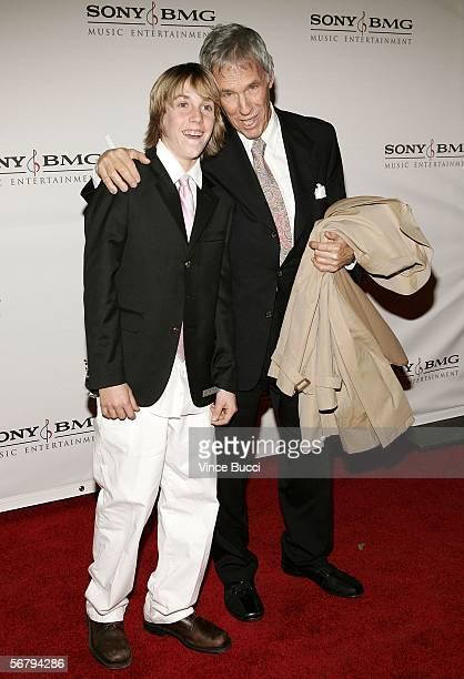 Musician Burt Bacharach and his son Oliver arrive at the SONY BMG Grammy Party held at The Hollywood Roosevelt Hotel on February 8 2006 in Hollywood...