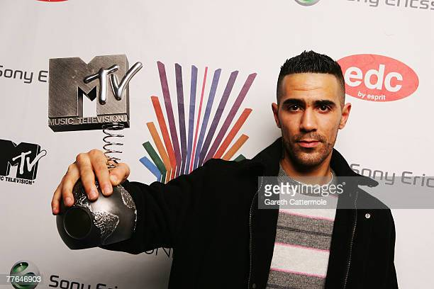 Musician Bushido poses in the Awards Room at the MTV Europe Music Awards 2007 at the Olympiahalle on November 1 2007 in Munich Germany