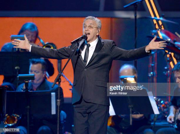 Musician Caetano Veloso onstage during the 13th annual Latin GRAMMY Awards held at the Mandalay Bay Events Center on November 15 2012 in Las Vegas...