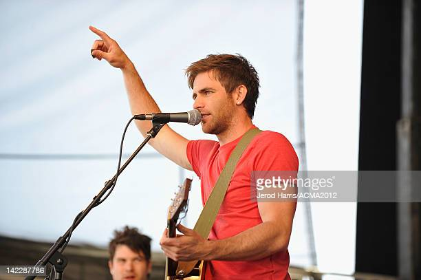 Musician Canaan Smith performs onstage during the ACM Experience at the Mandalay Bay Resort Casino on April 1 2012 in Las Vegas Nevada