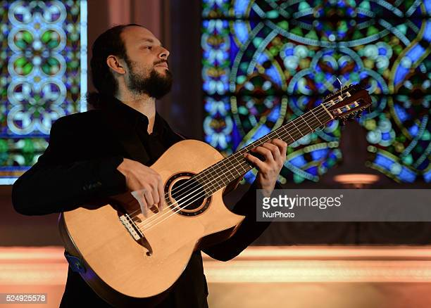 Musician Cano during a rehearsal of 'Flamenco en Blanco y Negro', at the 2014 Dublin Flamenco Festival, St Michan's Church, Dublin, Ireland. 5th...