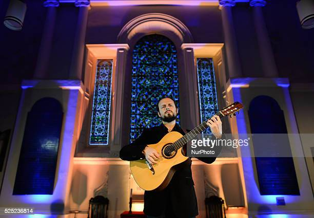 Musician Cano during a rehersal of 'Flamenco en Blanco y Negro', at the 2014 Dublin Flamenco Festival, St Michan's Church, Dublin, Ireland. 5th...