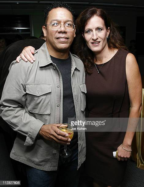 Musician Carlos Alomar and Executive Director of the New York Chapter Elizabeth Healy attend the New York Chapter of the National Academy of...