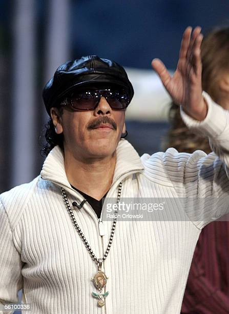 Musician Carlos Santana attends the live broadcast of Wetten dass on ZDF television at the Maimarkthalle November 5 2005 in Mannheim Germany