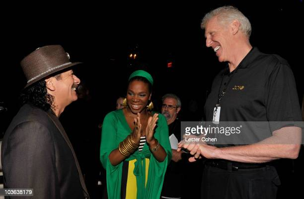 Musician Carlos Santana musician India Arie and former basketball player Bill Walton attend the Clive Davis and Carlos Santana exclusive VIP...