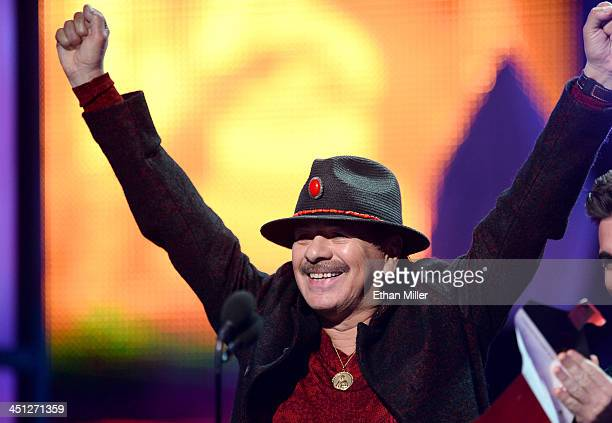 Musician Carlos Santana onstage during the 14th Annual Latin GRAMMY Awards held at the Mandalay Bay Events Center on November 21 2013 in Las Vegas...
