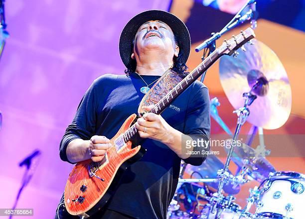 Musician Carlos Santana performs at Sprint Center on August 14 2014 in Kansas City Missouri