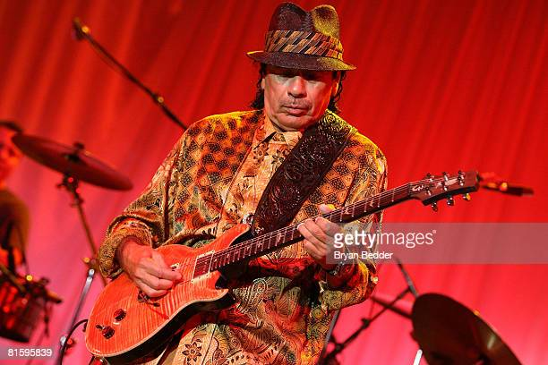 Musician Carlos Santana performs at the 7th annual Samsung Four Seasons of Hope gala on June 16 2008 at Cipriani Wall Street in New York City