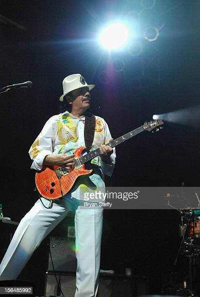 Musician Carlos Santana performs at the after party for the 13th annual Latin GRAMMY Awards held at the House of Blues Las Vegas on November 15 2012...