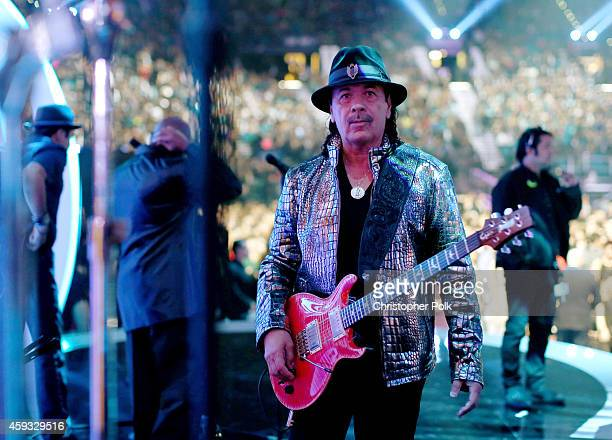 Musician Carlos Santana performs onstage during the 15th Annual Latin GRAMMY Awards at the MGM Grand Garden Arena on November 20 2014 in Las Vegas...