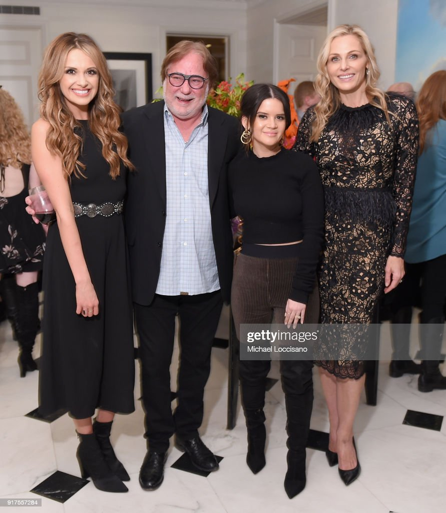 Musician Carly Pearce, CAA Music Agent Rod Essig, musician Maren Morris and host Jamie Tisch attend the Country Music Hall Of Fame And Museum Reception With Carly Pearce For All For The Hall New York on February 12, 2018 in New York City.