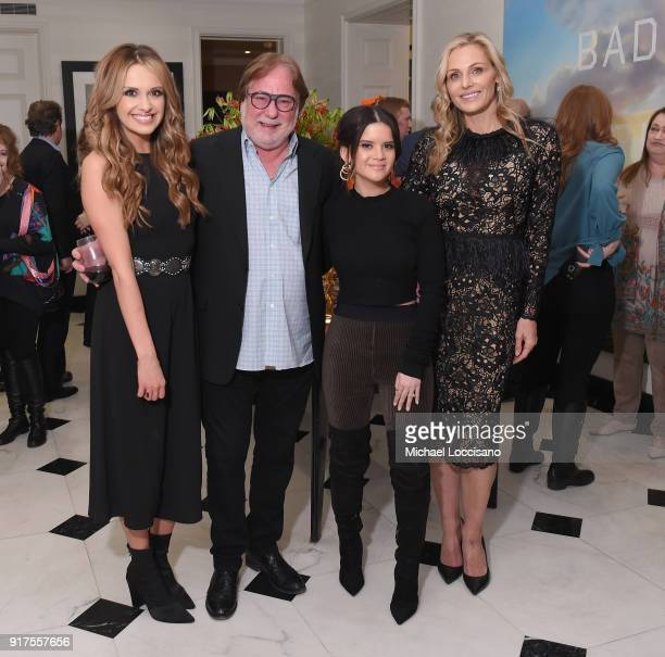 Musician Carly Pearce CAA Music Agent Rod Essig musician Maren Morris and host Jamie Tisch attend the Country Music Hall Of Fame And Museum Reception...