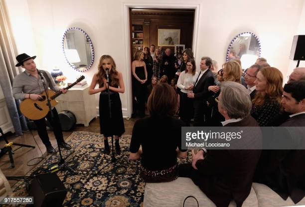 Musician Carly Pearce performs at the Country Music Hall Of Fame And Museum Reception With Carly Pearce For All For The Hall New York on February 12...