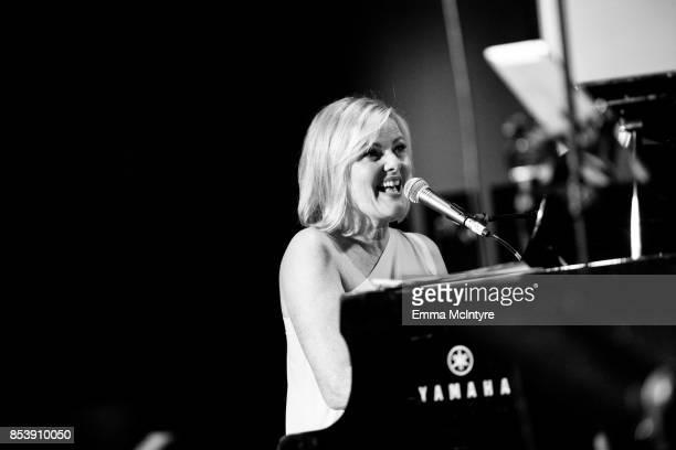 Musician Carol Welsman performs onstage at 'Pat Harris' California Democratic US Senate run 2018 kick off' at Catalina Jazz Club Bar Grill on...