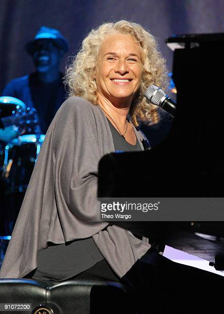 Musician Carole King performs during a National Parks celebration hosted by the National Parks Conservation Association and PBS at Central Park on...