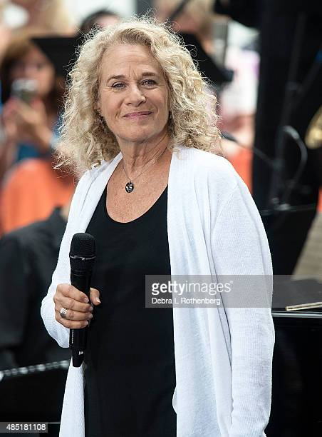 Musician Carole King performs live on NBC's 'Today' at Rockefeller Plaza on August 25 2015 in New York City